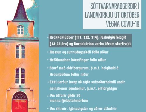 Hertar sóttvarnaraðgerðir í Landakirkju
